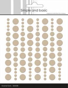 Bilde av Simple and Basic - SBA008 - Enamel Dots - Baileys Brown