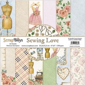 Bilde av ScrapBoys - Sewing Love - 6x6 Paper Pad