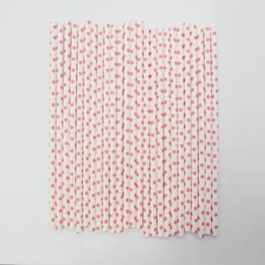 Bilde av Kort & Godt - Sugerør - XG205 - hvit-rosa prikker