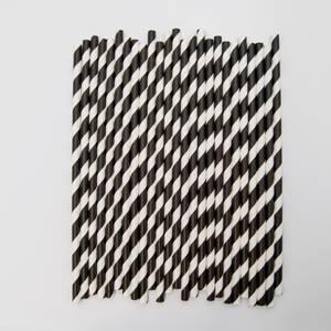 Bilde av Kort & Godt - Sugerør - XG208 - hvit-sort striper
