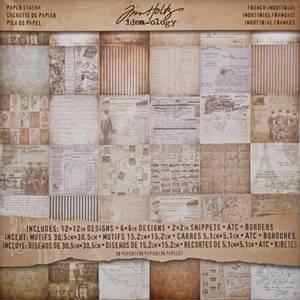 Bilde av Tim Holtz - Idea-Ology - 12x12 Paper Stash - French Industrial