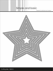 Bilde av Simple and basic - Dies - SBD011 - Double pierced Star