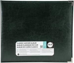 Bilde av We R - 660915 - Leather D-Ring Album - 12x12 - Forest Green