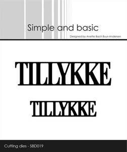 Bilde av Simple and basic - Dies - SBD019 - Tillykke
