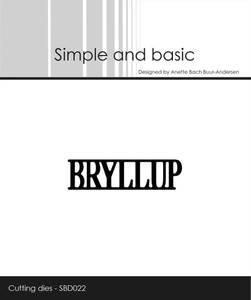 Bilde av Simple and basic - Dies - SBD022 - Bryllup
