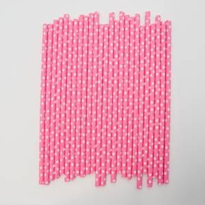 Bilde av Kort & Godt - Sugerør - XG213 - rosa-hvit prikker