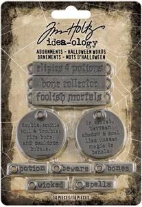 Bilde av Tim Holtz - Idea-Ology - TH94063 - Adornments Halloween Words