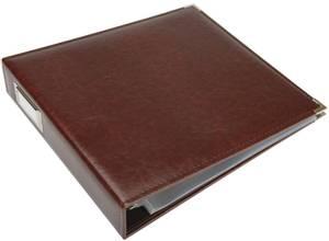 Bilde av We R - 660912 - Leather D-Ring Album - 12x12 - Cinnamon
