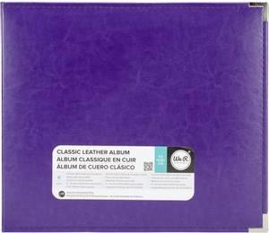 Bilde av We R - 660908 - Leather D-Ring Album - 12x12 - Grape Soda