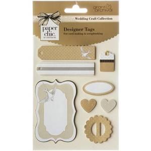 Bilde av Grant Studios - Wedding Craft Collection - Designer Tags - Gold