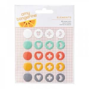 Bilde av American Crafts - Amy Tangerine - Enamel Dots 368978 - Stitched