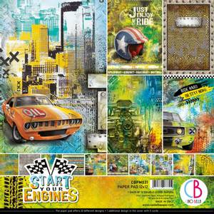 Bilde av Ciao Bella - 031 - 12x12 Paper Pad - Start Your Engines - 12pk