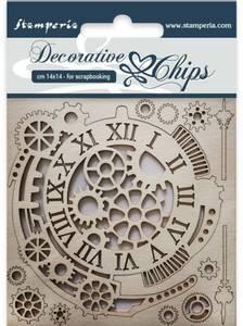 Bilde av Stamperia - Chipboard Decorative Chips - 33 - Gears and Clocks