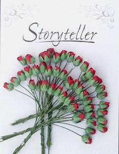 Bilde av Storyteller - Roseknopp - Dyp Rød - 4mm - 1739