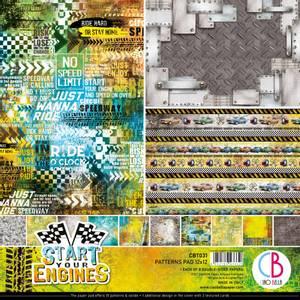 Bilde av Ciao Bella - 031 - 12x12 Patterns Pad - Start Your Engines - 8pk