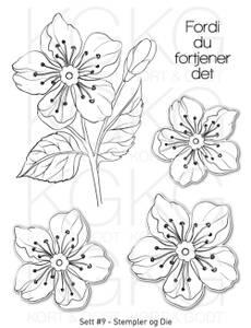 Bilde av Kort & Godt - Stempel og Die - Sett #9 - Blomster
