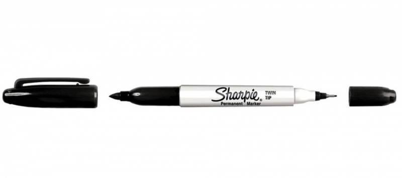 Sharpie - Fine / Ultra Fine Twin-Tip Permanent Marker - Black