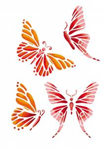 Bilde av Pronty - Sjablong Stencil - A5 - Sommerfugler