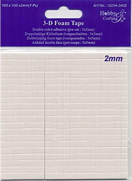 Hobby & Fun - 3D Foam Tape - 3402 - 5x5mm - h: 2mm - 400stk