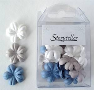 Bilde av Storyteller - Blomster - Brun blå mix - 0374