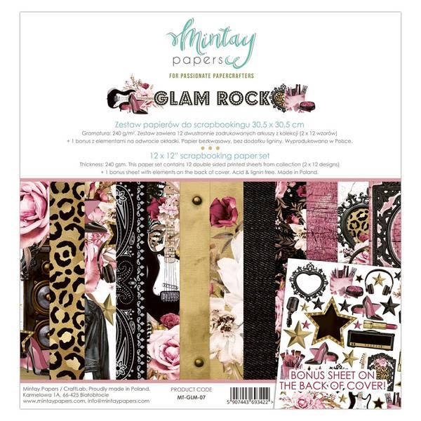 Mintay - GLM - 12x12 Paper Set - Glam Rock