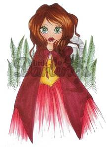 Bilde av Saturated Canary stamp 5055 - RED RIDING HOOD
