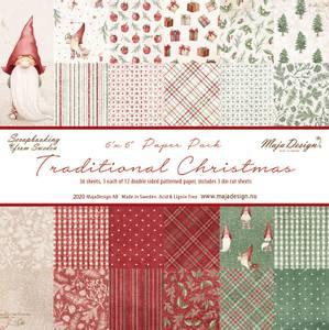 Bilde av Maja Design - 1128 - Traditional Christmas - 6x6 Paper Pack