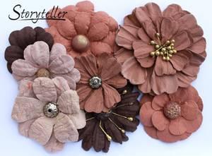 Bilde av Storyteller - Ass blomster m senter - Brun - 4082