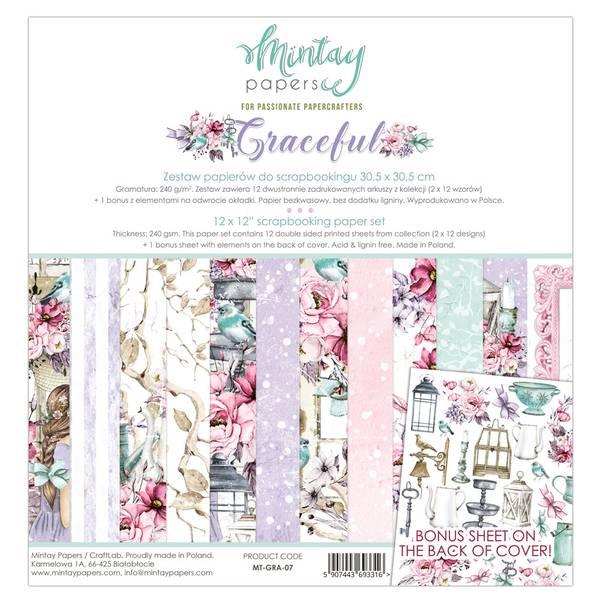 Mintay - GRA - 12x12 Paper Set - Graceful