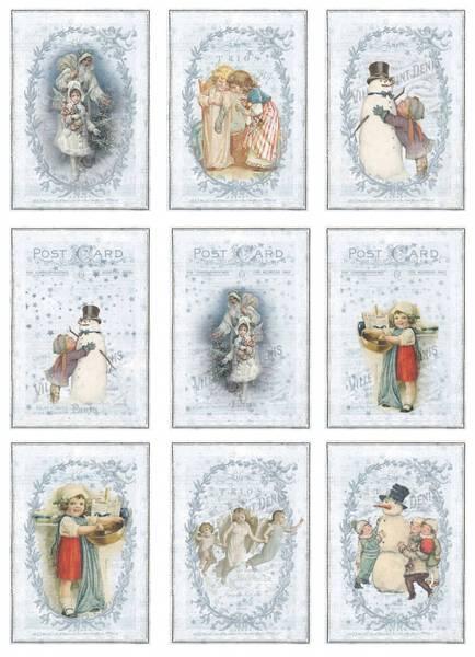 Reprint -  A4 Klippeark - KP0056 - Vintage Christmas - Frosty