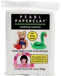 Bilde av Creative Paperclay - Pearl Paperclay - White - 16 oz -Papirleire