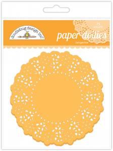 Bilde av Doodlebug Design - 4454 - Paper Doilies - Tangerine - 75 stk