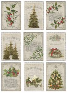 Bilde av Reprint -  A4 Klippeark - KP0058 - Vintage Christmas - Forest