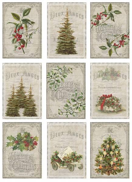 Reprint -  A4 Klippeark - KP0058 - Vintage Christmas - Forest