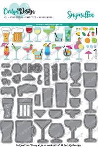 Bilde av CarlijnDesign - Dies - 0046 - Beer, Wine and Cocktails