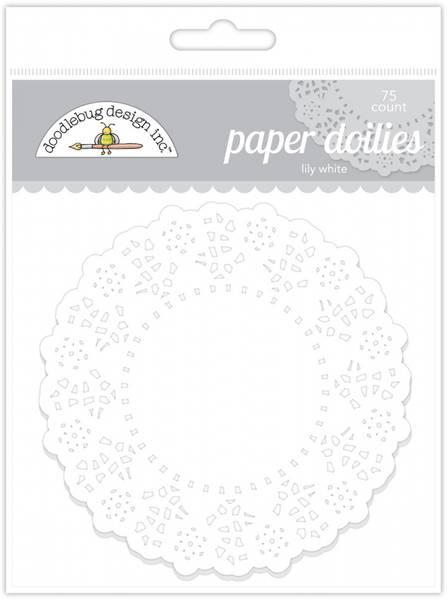 Doodlebug Design - 4460 - Paper Doilies - Lily White - 75 stk