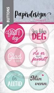 Bilde av Papirdesign - Buttons - 1900224 - Jeg liker deg