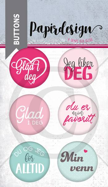 Papirdesign - Buttons - 1900224 - Jeg liker deg
