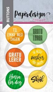 Bilde av Papirdesign - Buttons - 1900225 - Gratulerer