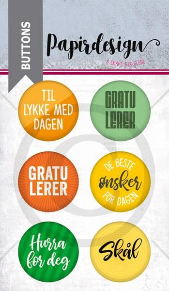 Papirdesign - Buttons - 1900225 - Gratulerer