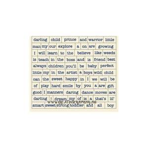 Bilde av AUTHENTIQUE - DARLING BOY - DAB010 - CARDSTOCK STICKERS