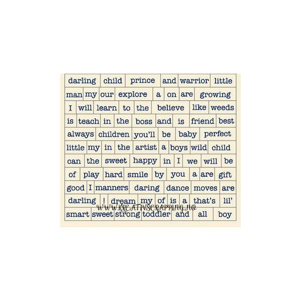 AUTHENTIQUE - DARLING BOY - DAB010 - CARDSTOCK STICKERS