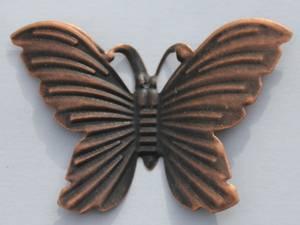Bilde av Charms - Sommerfugl - stor - kobber - 6 stk