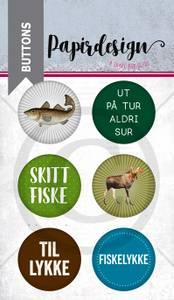 Bilde av Papirdesign - Buttons - 1900217 - Fisk og elg