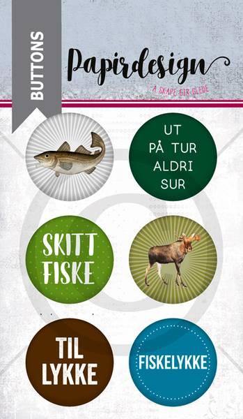 Papirdesign - Buttons - 1900217 - Fisk og elg
