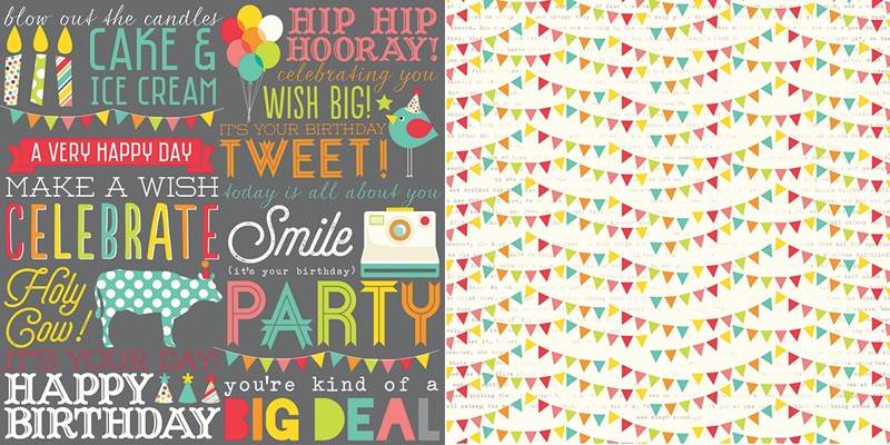 Simple Stories - 5308 - Lets Party - Hip Hip Horray! - 12x12