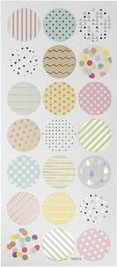 Bilde av Creotime - Stickers - 29159 - Circles - Pastell with Gold foil d