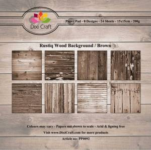 Bilde av Dixi Craft - Paper Pad 15x15 - 092 - Rustiq Wood Background Brow