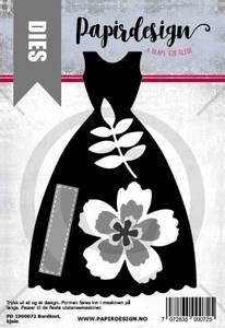 Bilde av Papirdesign Dies PD1900072 - Kjole, bordkort