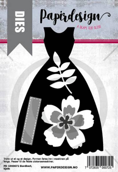 Papirdesign Dies PD1900072 - Kjole, bordkort